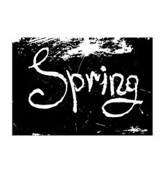 Chalk texture word spring vector