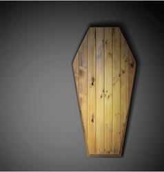 Wooden coffin vector