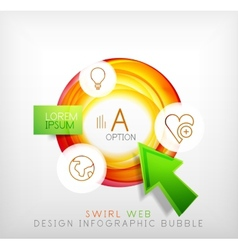 Swirl web design infographic bubble - flat concept vector