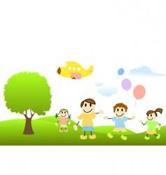 Cartoon children vector