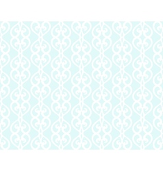White forged lacing seamless pattern on blue vector