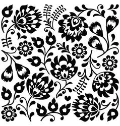 Polish folk art black pattern - wzory lowickie vector