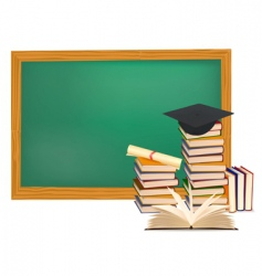 Graduation background vector