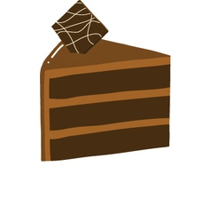 Chocolate cake slice vector