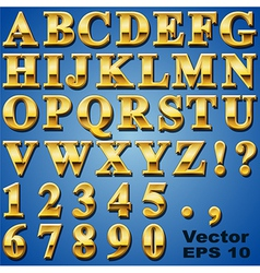 Gold metal letters vector