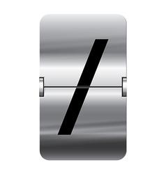 Alphabet silver flipboard letters slash vector