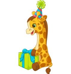 Birthday giraffe vector