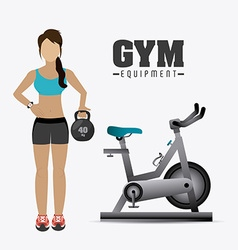 Fitness lifestyle design vector