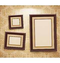 Wooden frames vector