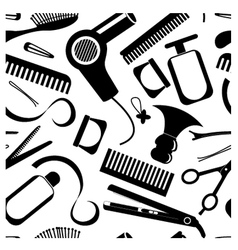 Seamless hairdressing pattern vector