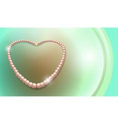 Pearls necklace vector