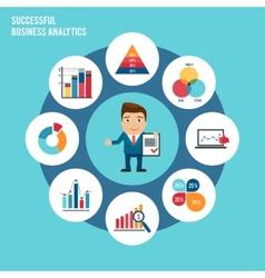 Business chart set vector