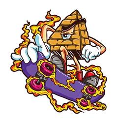 Skater pyramid vector