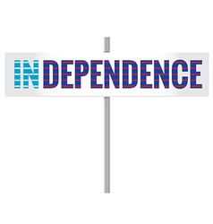 Scotland independence sign vector
