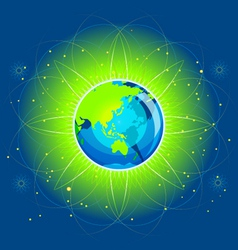 Earth beam asia continents vector