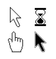 Pixel cursor icons vector