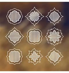 Label elements design vector