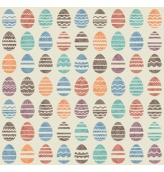 Seamless easter vintage pattern with eggs vector