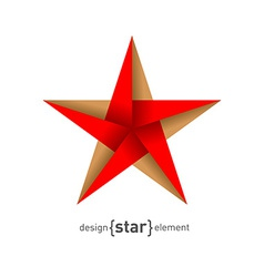 Origami star from paper vector