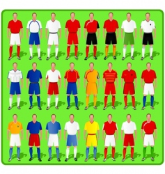 National teams of european football vector