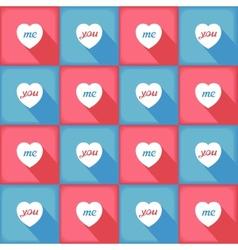 Funny pop-art pattern for love vector