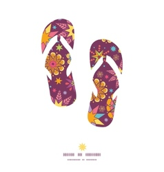 Colorful stars flip flops silhouettes pattern vector