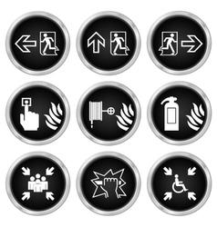 Fire escape icons vector