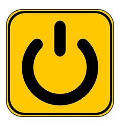 Power symbol button vector