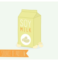 Soy milk in a carton pack vector