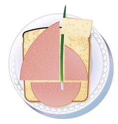 Sandwich for yachtsman vector