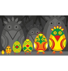 Bird hatch vector