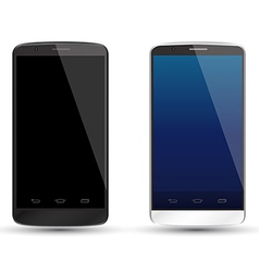 Smartphone realistic mockup set vector