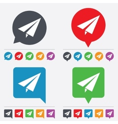Paper plane sign airplane symbol travel icon vector