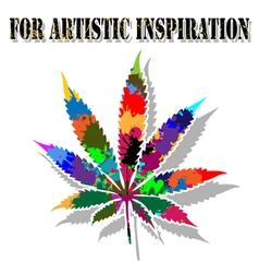 Colorful marijuana vector