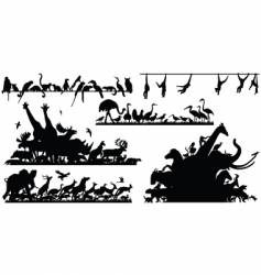 Animal foregrounds vector