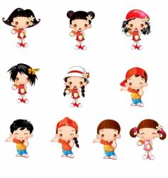 Cute kids vector