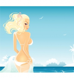 Tropical girl vector