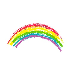 Crayon rainbow vector