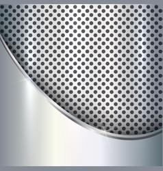 Metallic silver background vector