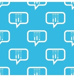 Test-tubes message pattern vector