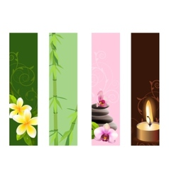 Vertical spa banners vector