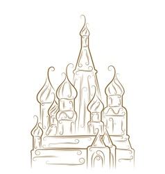 Saint basils cathedral vector