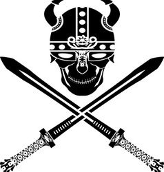 Skull of the warrior second wariant vector