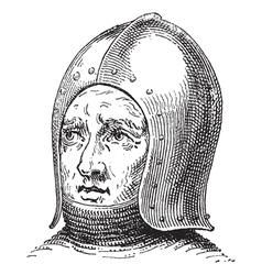 War helmet vintage engraving vector