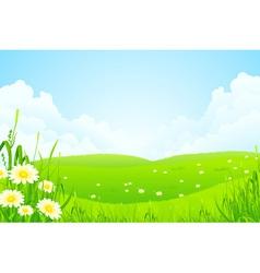 Green nature landscape vector