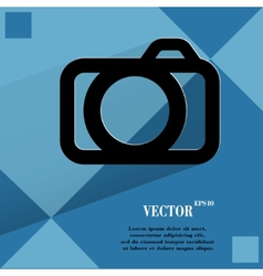 Camera flat modern web design on a flat geometric vector