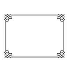 Gothic style black ornamental decorative frame vector