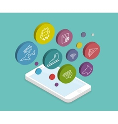 Mobile lifestyle apps vector