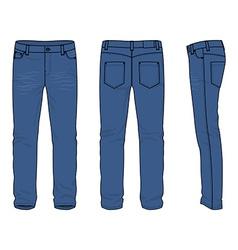 Mens jeans vector