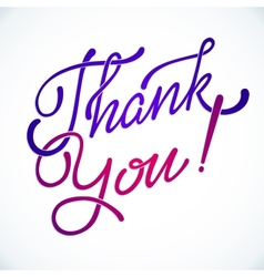 Thank you hand lettering handmade vector